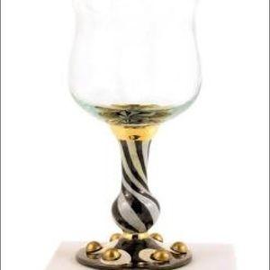 MacKenzie-Childs 2 Tango wine glasses new. Final $